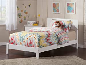 Atlantic Furniture Orlando White Twin Open-Foot Bed