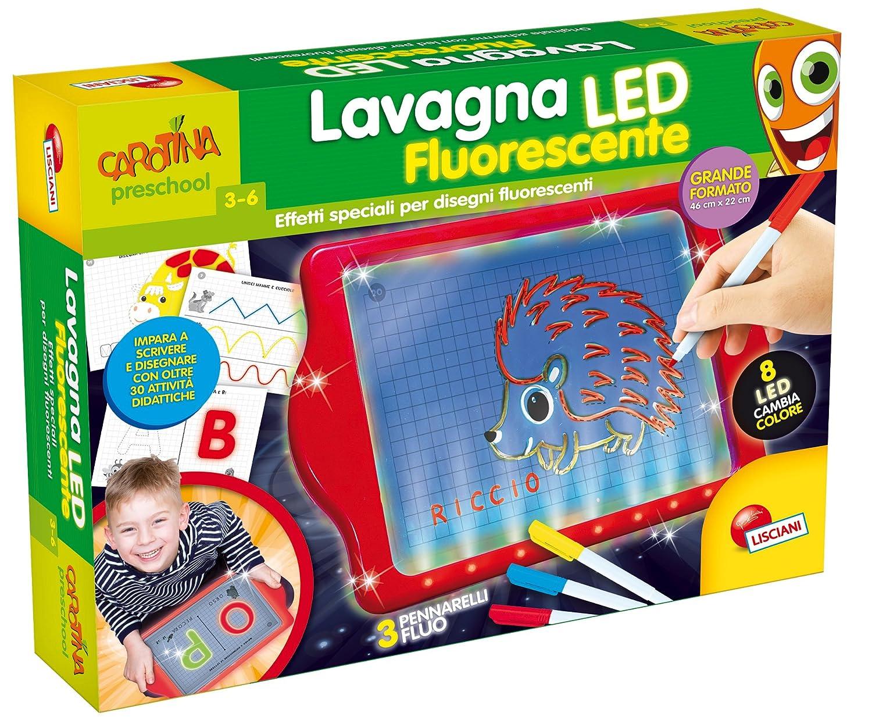 Lisciani Jeux 64137-carotina lavagnona Fluorescent LED, Multicolore, 64137