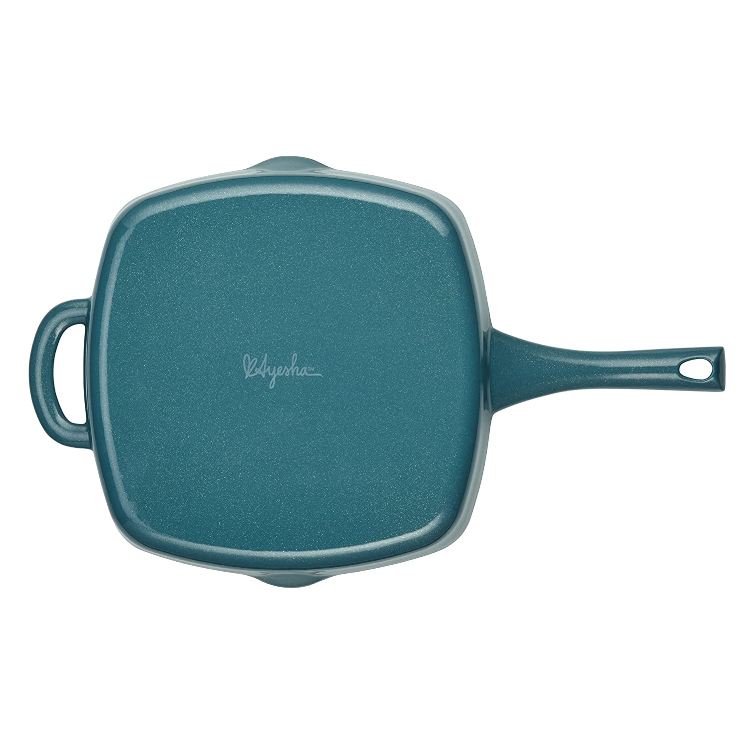Amazon.com: Ayesha Curry Cast Iron Square Grill Pan with Pour Spouts ...