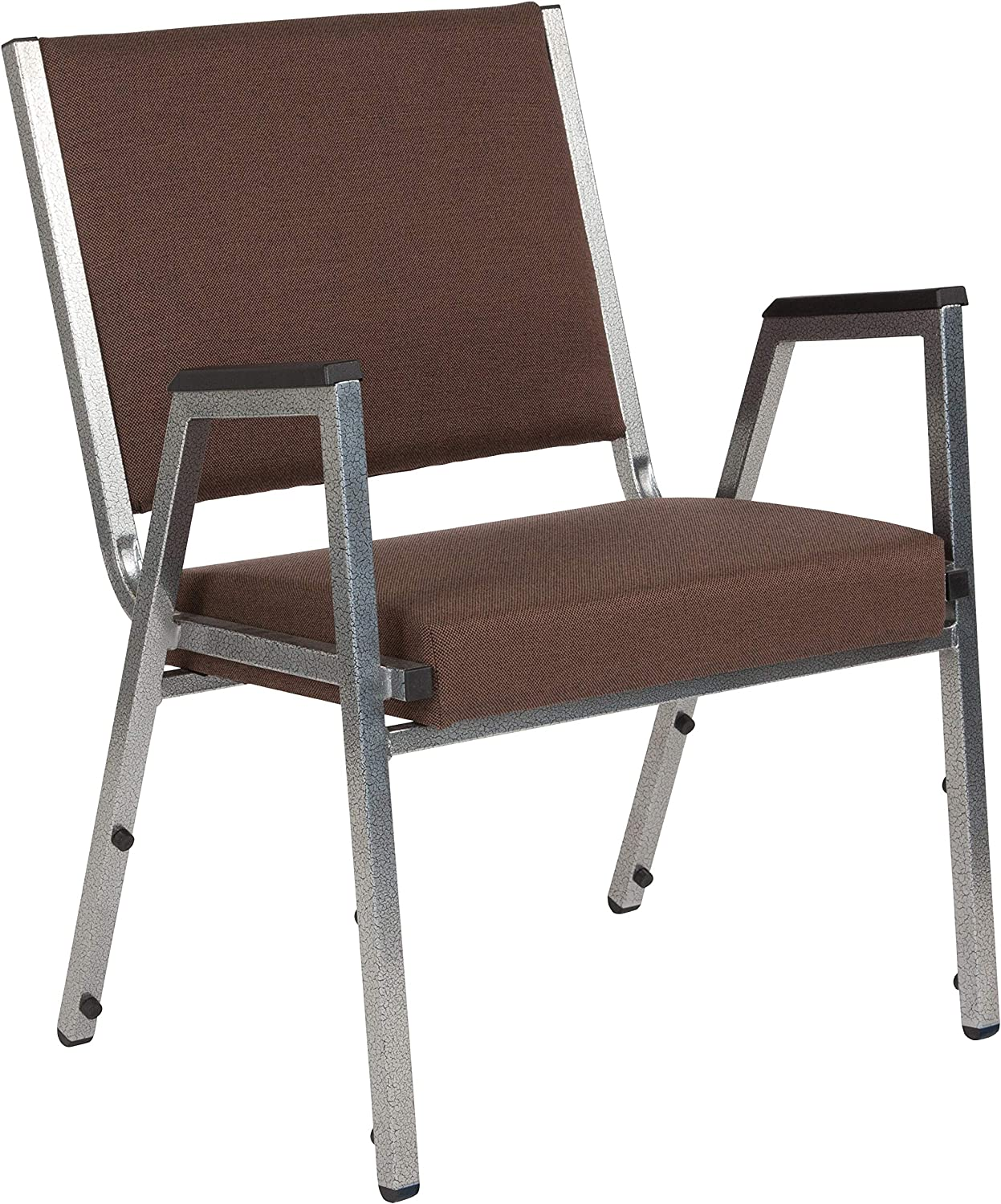 Flash Furniture HERCULES Series 1500 lb. Rated Brown Antimicrobial Fabric Bariatric Medical Reception Arm Chair