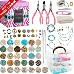 Modda Deluxe Jewelry Making Kit, Jewelry Making Supplies Includes Instructions, Beads,