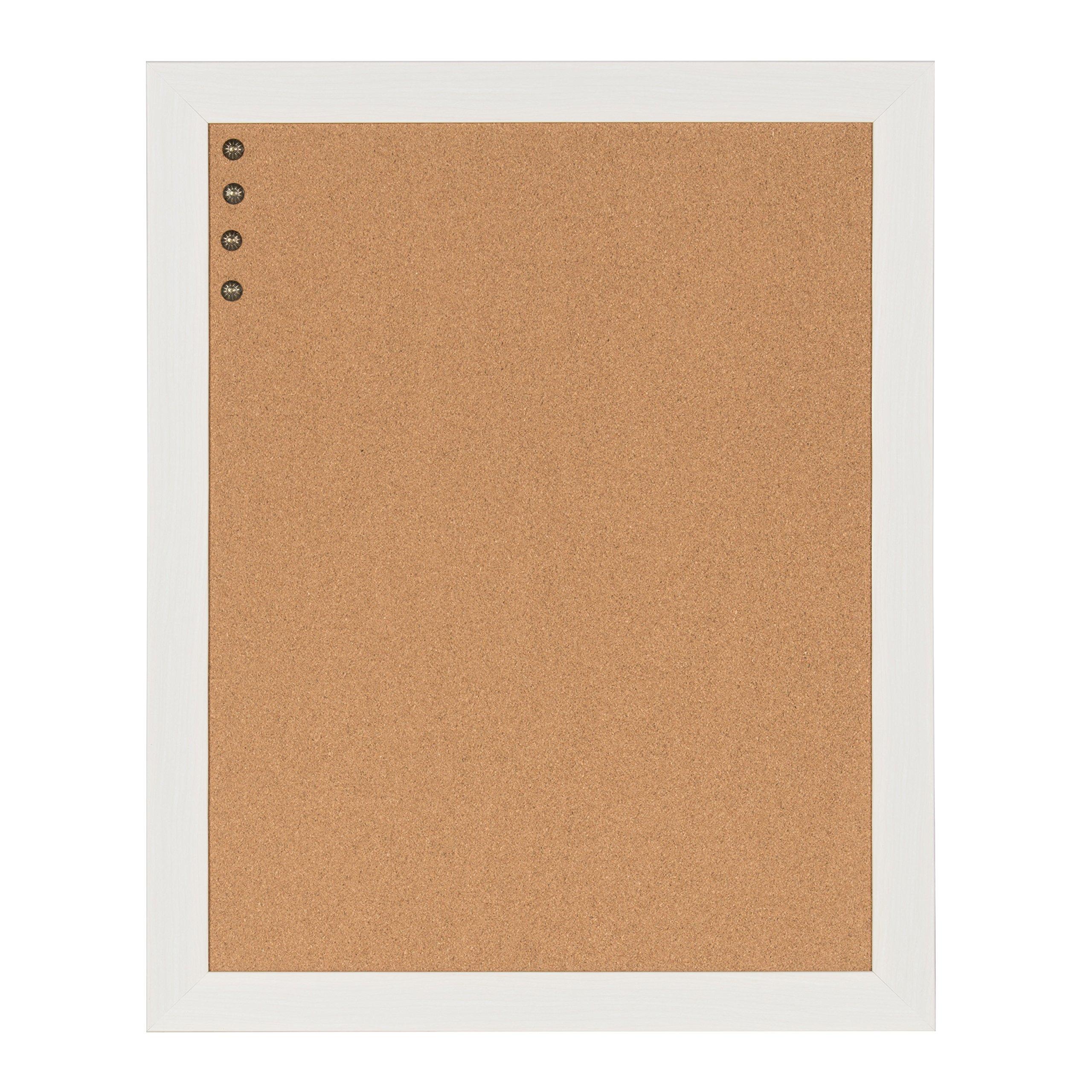 DesignOvation Beatrice Framed Corkboard, 23x29, White by DesignOvation