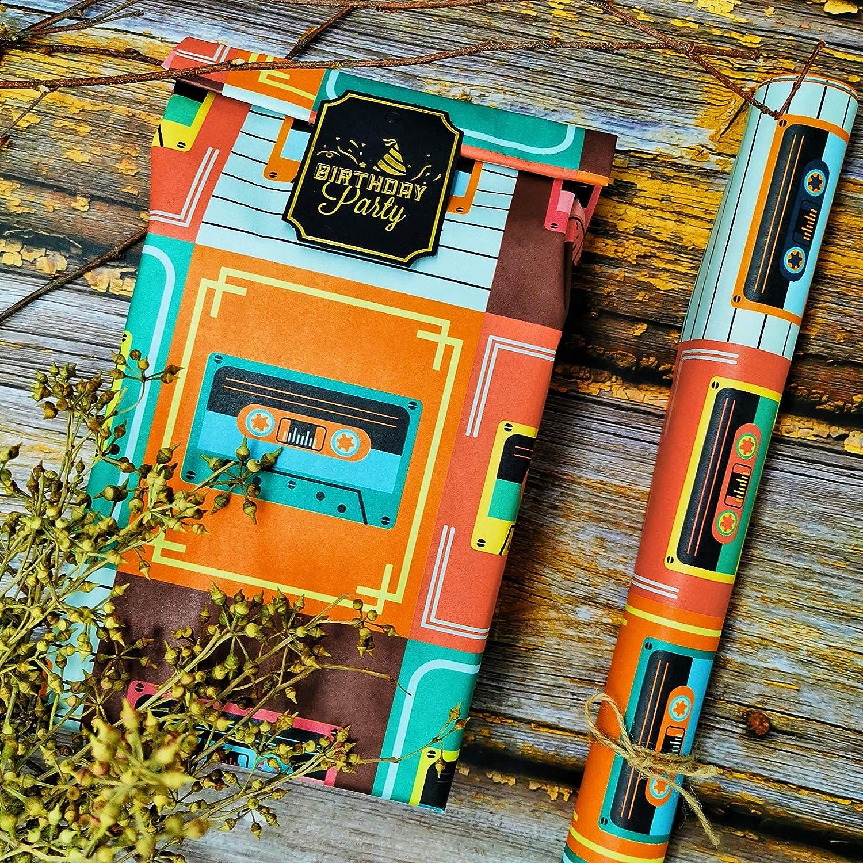 9 fogli in un rotolo 44,5 cm x 70 cm 3 motivi carta da imballaggio kraft da 80 g // m/² ANZON MORIES Carta da regalo unica dal design botanico per ogni occasione