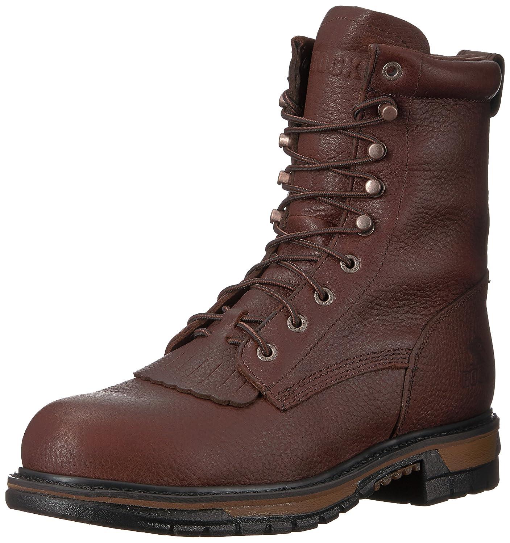 ロッキーMen 's Original Ride防水Western Lacer Boot Safety Toe – fq0006717 B000NI4J1A 8.5 2E US|ダークブラウン ダークブラウン 8.5 2E US