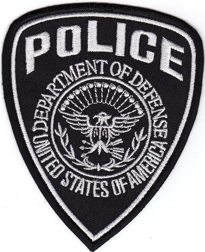 Adhesivo para planchado para parche para modelo usado por la policía para coser en la directrices del Departamento de United America de autodefensa de los Estados insignia: Amazon.es: Ropa y accesorios