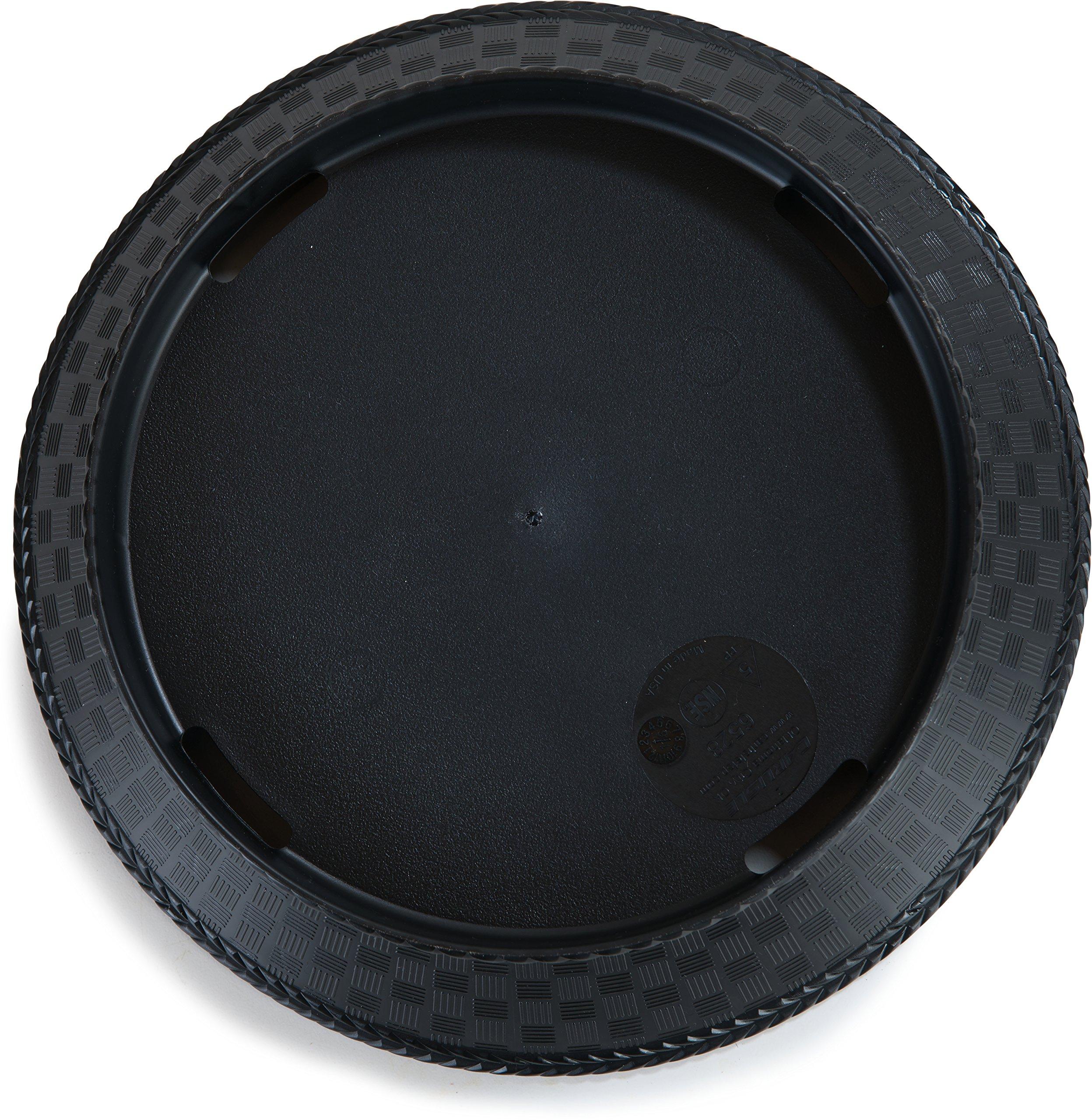 Carlisle 652803 WeaveWear Round Serving Basket, 9'', Black (Pack of 12)