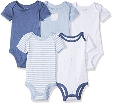 8ed4b4e2d Amazon.com  Lamaze Baby Boy Organic Essentials 5 Pack Shortsleeve ...