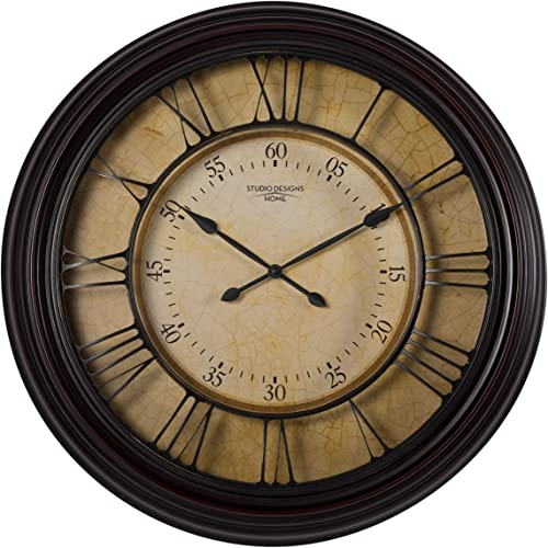 Studio Designs Home 29 Traditional Chateau Wall Clock, Dark Brown