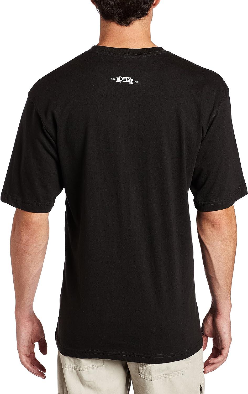 Key Industries Mens Big and Tall Heavyweight 3-button Short Sleeve Henley Pocket T Shirt