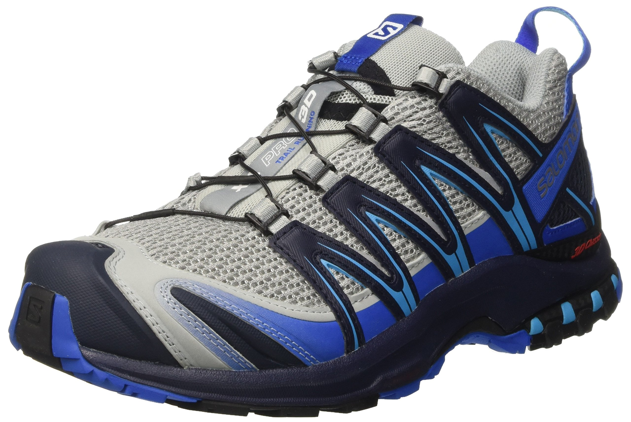 Salomon Men's XA Pro 3D Trail Running Shoes, Quarry/Nautical Blue/Hawaiian Ocean, 7.5 D US