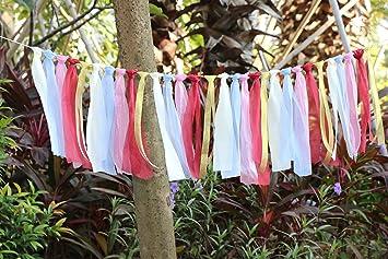 Amazon lace tassel garland rag tie garland fabric garland lace tassel garland rag tie garland fabric garland shabby chic blush banner for vintage wedding decor junglespirit Gallery