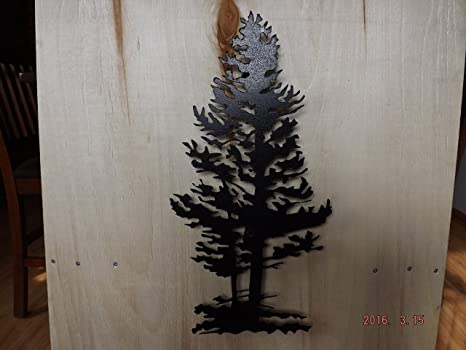 Amazon.com: Metal Wall Art, 3D Pine Tree: Kitchen & Dining