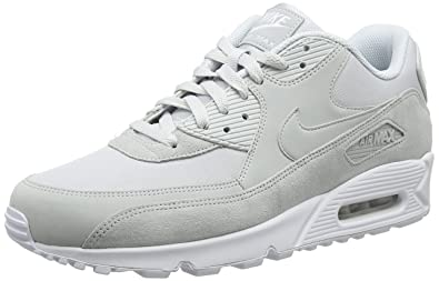 info for 2c142 9cf2c Nike AIR Max 90 Essential, Baskets Homme, Gris Platine Pur Blanc 002,