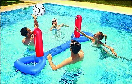 Amazon.com: Kovot - Juego de voleibol hinchable para piscina ...