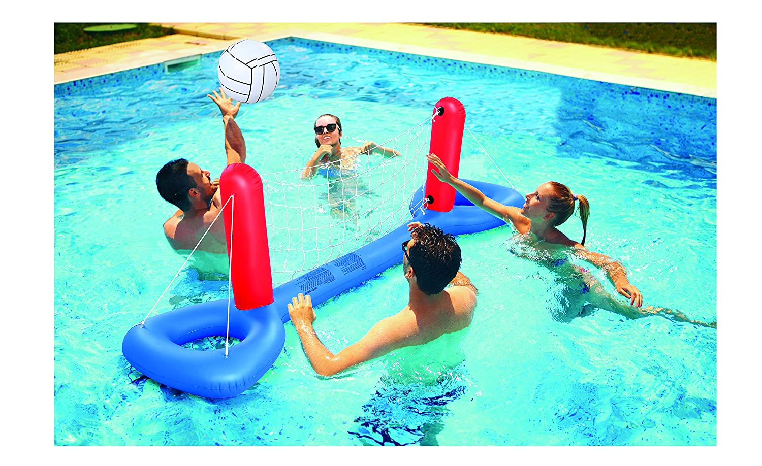 Kovot Inflatable Pool Volleyball Set   Inflate, Put in Water & Play