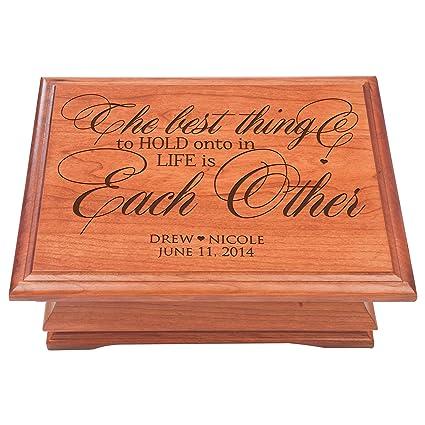 amazon com personalized jewelry storage organizer chest box