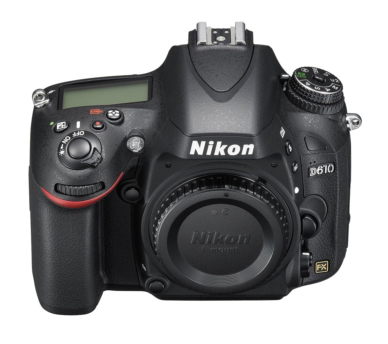 Amazon.com : Nikon D610 24.3 MP CMOS FX-Format Digital SLR Camera ...