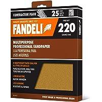 Fandeli 36027 220 Grit Multipurpose Schuurpapier Vellen 23cm X 28cm 25-vel Nieuw