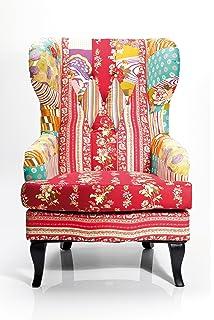Bhp Patchwork Sitz Bank Textil Möbel Bank Mobiliar Stoff Holz Stuhl