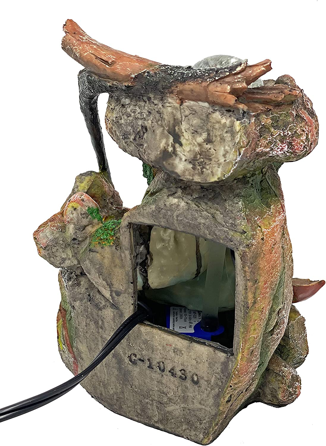 ImagiWonder Tabletop Fountain Indoor Fountain Natures Waterfall in Moss Rocks: Home & Kitchen