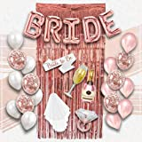 S2 Shoppe Bachelorette Party Decorations Kit   Bridal Shower   Bride to Be Sash, Veil, Ring Balloon, Champagne, Rose…