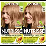Garnier Hair Color Nutrisse Nourishing Creme, 80 Medium Natural Blonde (Butternut), 2 Count