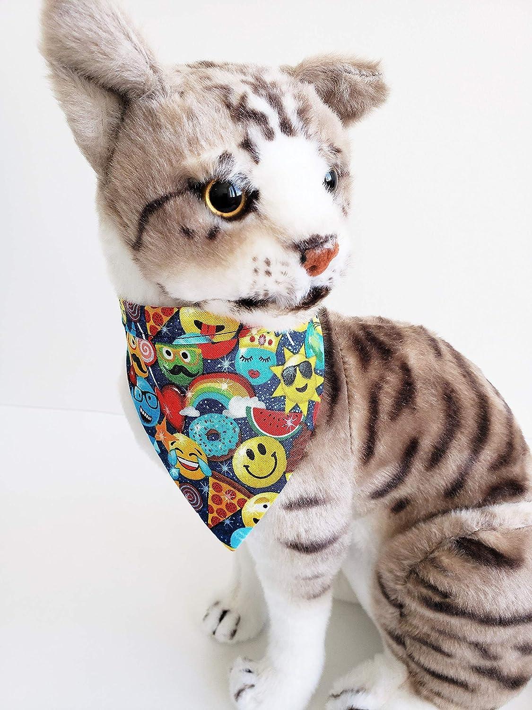 Emoji Bandana for Pets Tie on Bandana Scarf Cat Clothing Dog Neck Wear Reversible Bandana