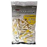 Pride Golf Pack De 100 Tees En Bois Pride Pts 70Mm Golf Jaune