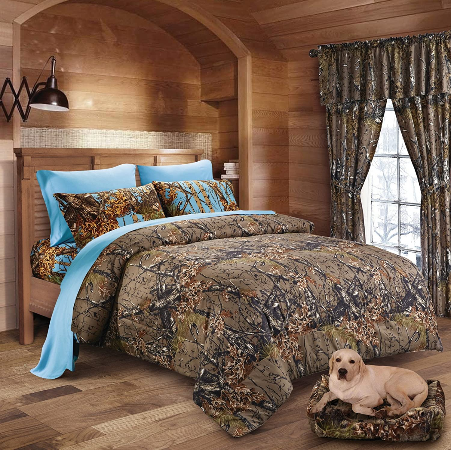 20 Lakes Woodland Hunter Camo Comforter, Sheet, & Pillowcase Set