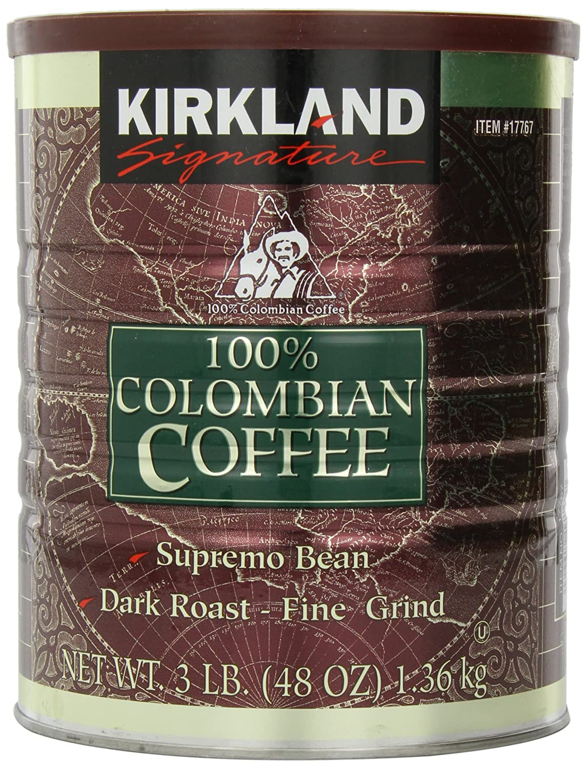 Signature 100% Colombian Coffee Supremo Bean Dark Roast-Fine Grind