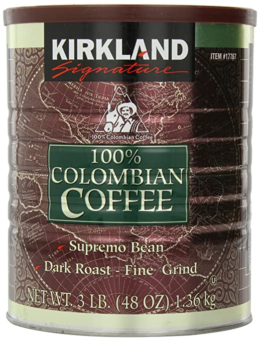 2 opinioni per Kirkland Signature 100% Colombian Filter Coffee Supremo Bean Dark Roast Fine