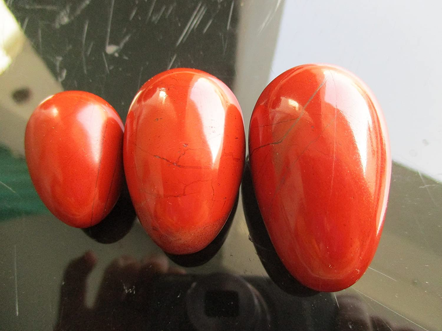 Handmade Red Jasper(L/M/S) Yoni Egg Massage Egg Healing Crystal Reiki Infused for Tantra / Exercise / Decorative Egg With Free Gift Bag.