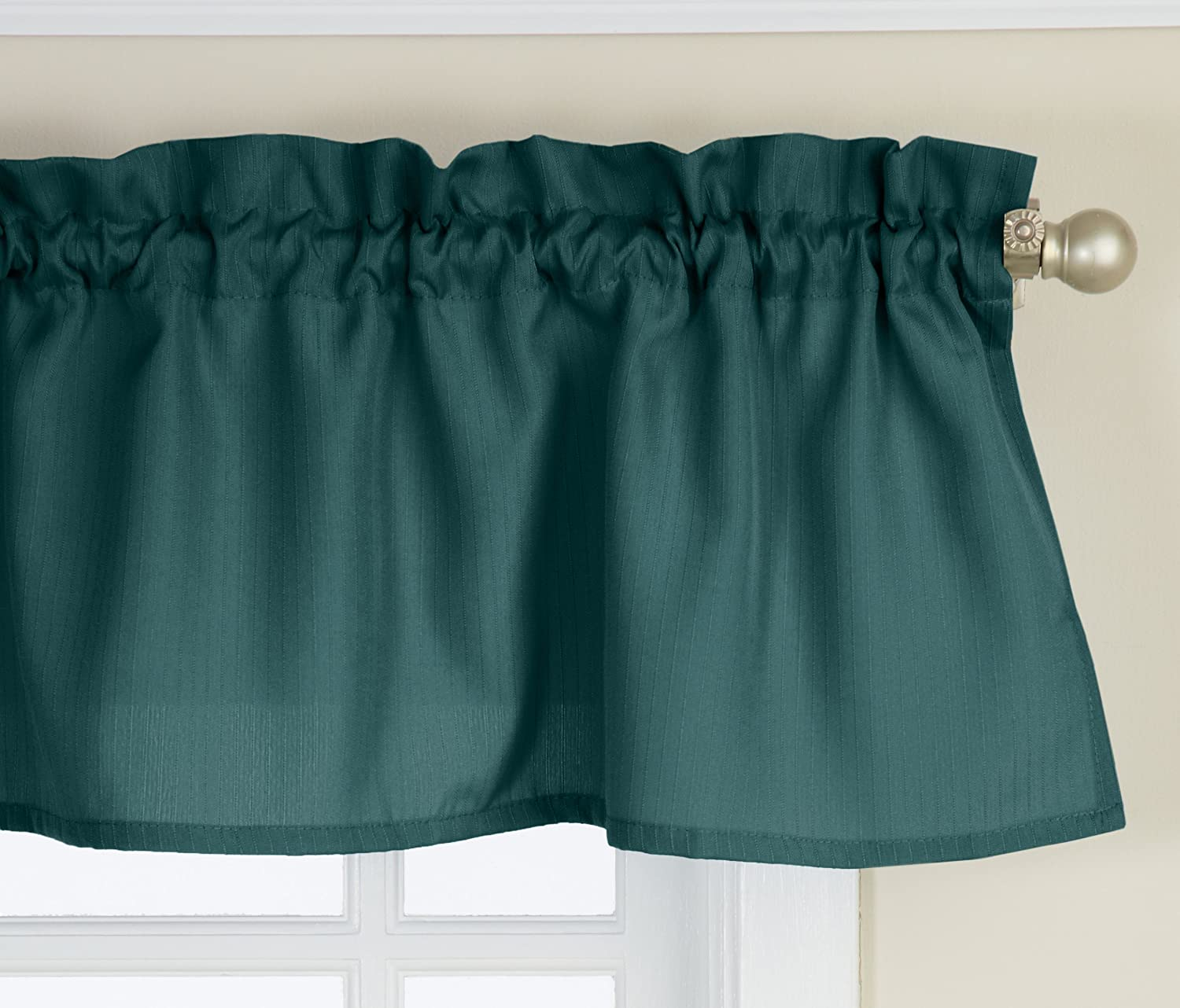 Lorraine Home Fashions Ribcord Valance, 54-Inch x 12-Inch, Evergreen