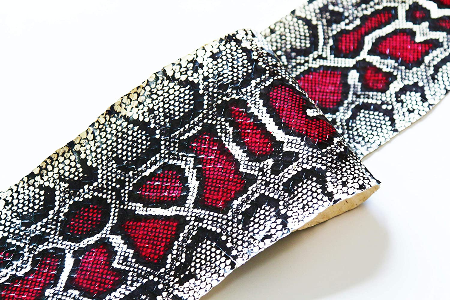 Genuine Snake Skin Snakeskin Burmese Python Print Million Dollar Red