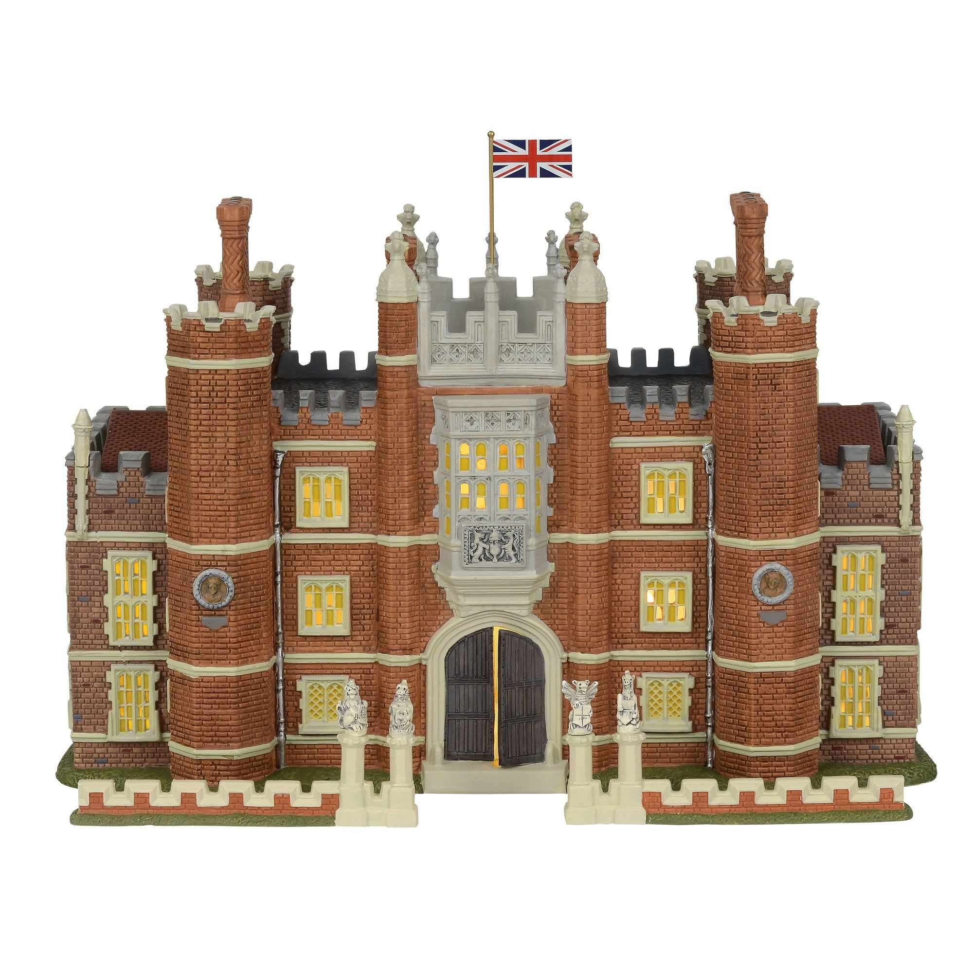Department 56 Dickens Village Hampton Court Palace Lit Building and Accessories, 8.75'', Multicolor by Department 56
