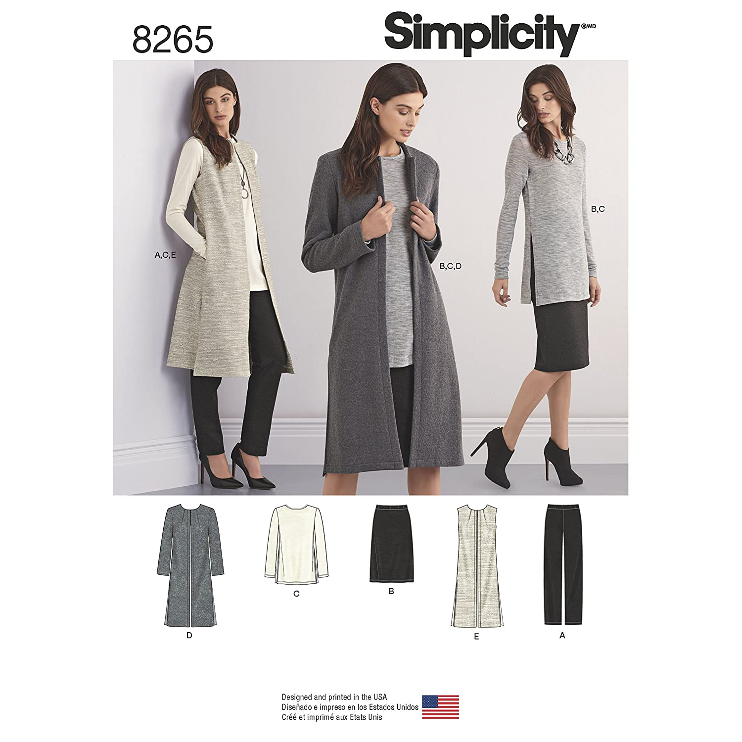 Simplicity Patterns 8265 Miss Petite Separates, Size: H5 (6-8-10-12-14) OUTLOOK GROUP CORP US8265H5