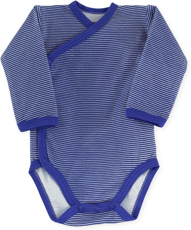 Trois Kilos Sept body bebe naissance croise Rayures bleu marine 00 mois