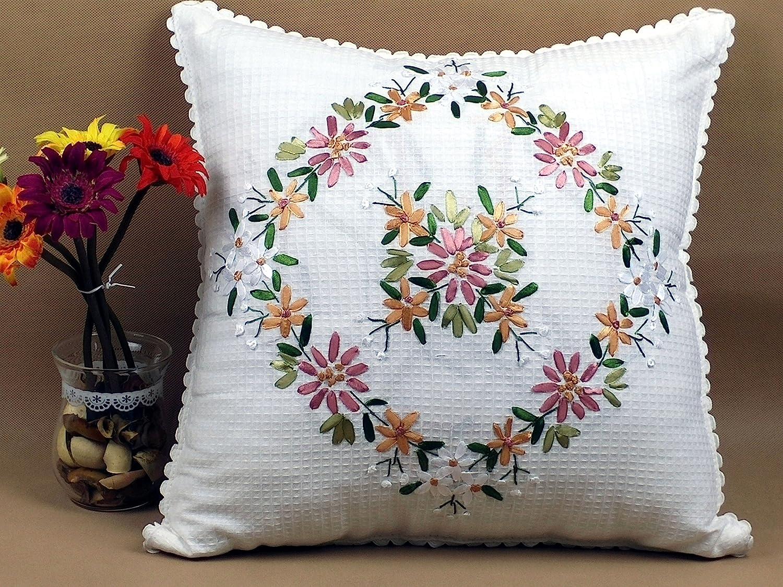 Reversible Floral Pillow Cover Handmade Flower Pillow Case