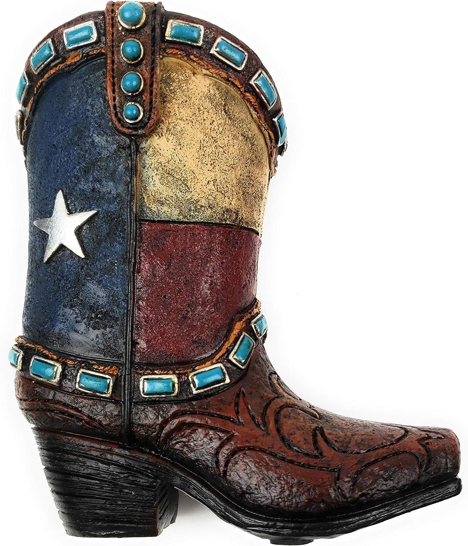 Texas Lone Star Cowboy Boot Pencil Holder