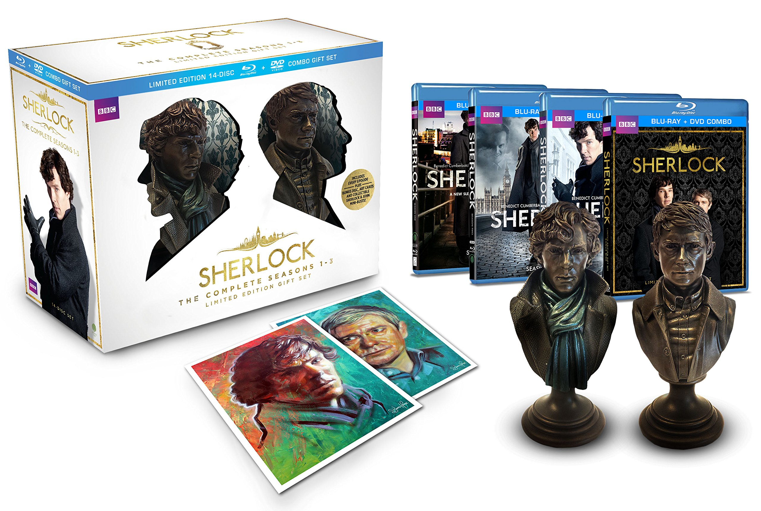 Sherlock Limited Edition Gift Set (The Complete Seasons 1-3 Blu-ray/DVD Combo) by WARNER HOME VIDEO