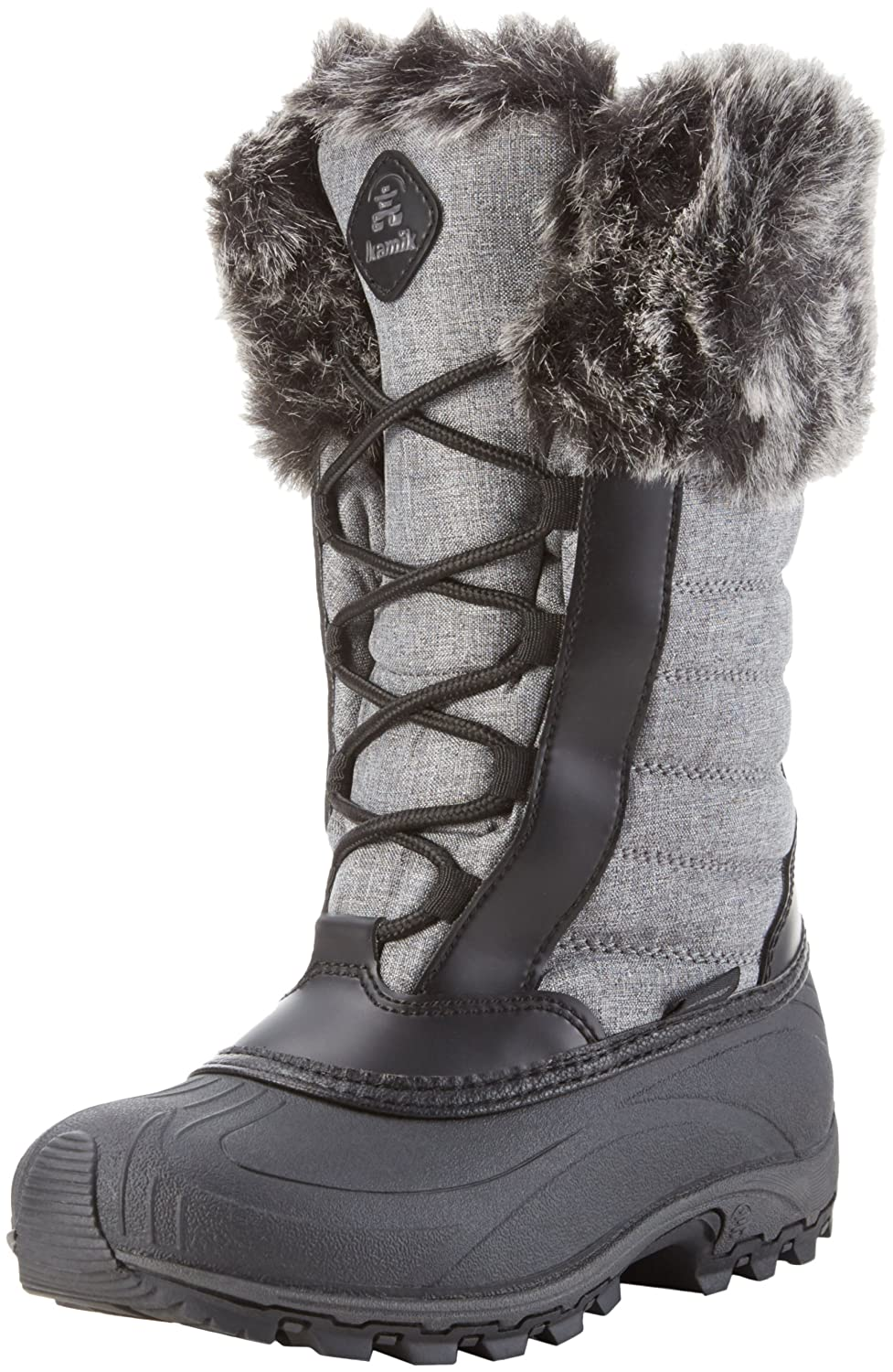 Kamik Women's Haley Snow Boot B0198WT10A 6 M US|Charcoal