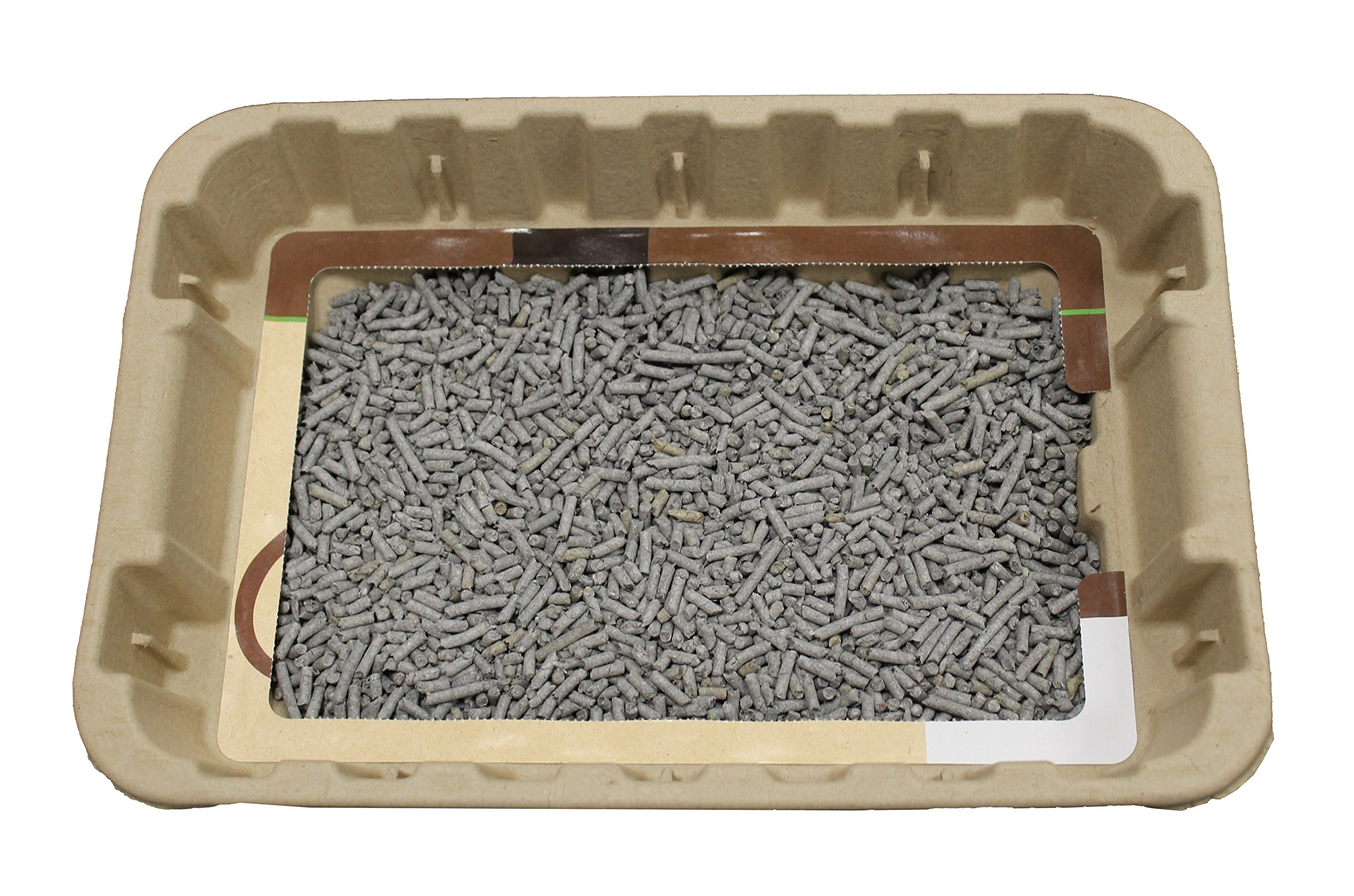 Disposable Cat Litter Boxes, Pre-Filled with 100% Recycled Paper Litter Pellets- 5 Pack of Trays- Includes Litter. Eco Friendly! Simply Peel Off Perforated Lid, Use, Dispose of Entire Tray! 3