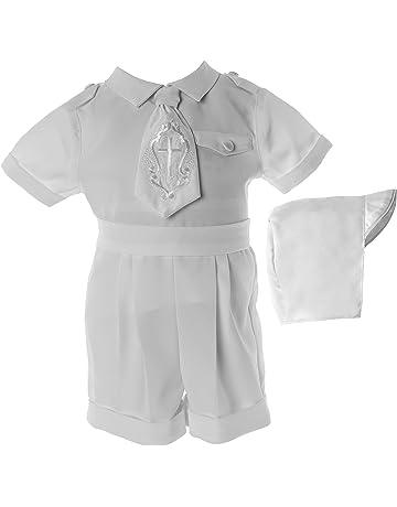 af33916483 Lauren Madison Baby Boys  Christening Baptism Poly Gabardine 3 Piece Short  Set