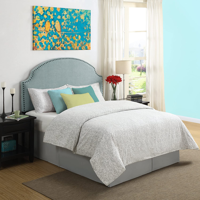 turquoise bedroom furniture. Amazon.com: Dorel Living Skylar Nailhead Linen Padded Headboard, Robin\u0027s Egg Blue: Kitchen \u0026 Dining Turquoise Bedroom Furniture