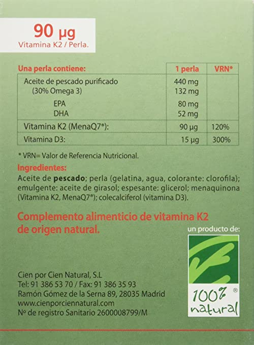 100% natural NutriMK7 Vitaminas - 60 Cápsulas: Amazon.es: Salud y ...