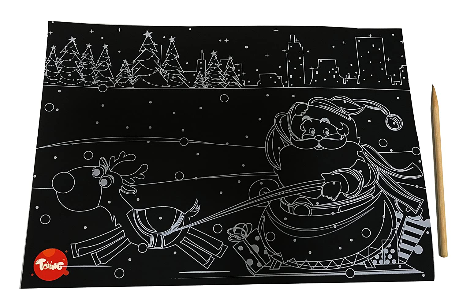 Buy toiing doodletoi christmas magical colourful scratch art drawing papers multi color online at low prices in india amazon in