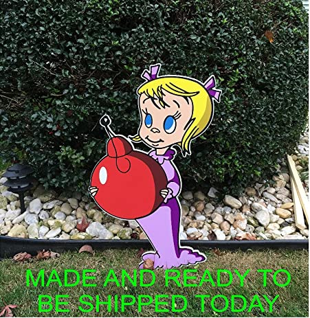 Amazon cindy lou who grinch stealing christmas lights outdoor cindy lou who grinch stealing christmas lights outdoor yard art display aloadofball Image collections