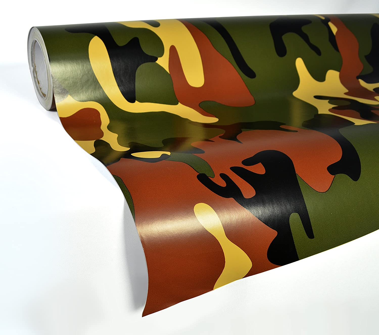 1ft x 5ft VViViD Snow Camouflage Vinyl Car Wrap Adhesive Decal DIY Air Release Roll