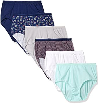 eb8d221743b063 Fruit of the Loom Women's 6 Pack Cotton Brief Panties (Assorted 2, Small (