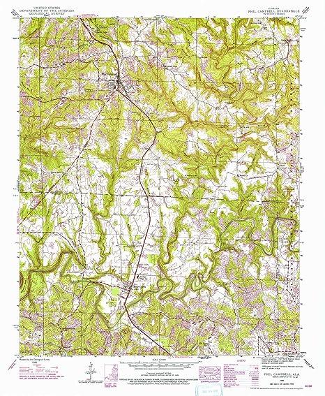 Phil Campbell Al >> Amazon Com Yellowmaps Phil Campbell Al Topo Map 1 24000